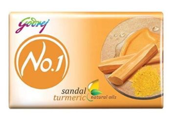 Godrej No.1 Bathing Soap - Sandal & Turmeric, 150g (Pack of 9) at Rs. 224