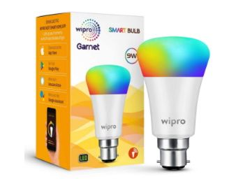 Wipro Wi-Fi Enabled Smart LED Bulb B22 9-Watt at Rs. 629