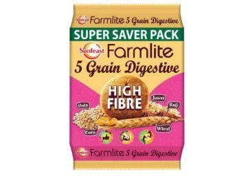 Sunfeast Farmlite Digestive High Fibre Biscuits, 1kg at Rs. 108