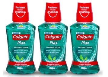 Colgate Plax Antibacterial Mouthwash, 10X longer cooling, 24/7 Fresh Breath, Removes 99% Germs - 3 x 250ml (Fresh Mint) at Rs. 216