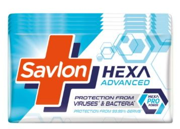 Savlon Hexa Advanced Germ Protection Bathing Soap Bar, 125 g (Pack of 5) at Rs. 177