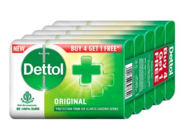 Dettol Original Germ Protection Bathing Soap bar, 125gm (Pack of 5) at Rs. 200