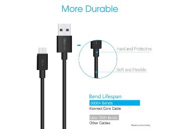 Portronics POR-654 Konnect Core 1M Micro USB Cable