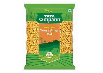 Tata Sampann Unpolished Toor Dal/Arhar Dal, 1kg At Rs. 142