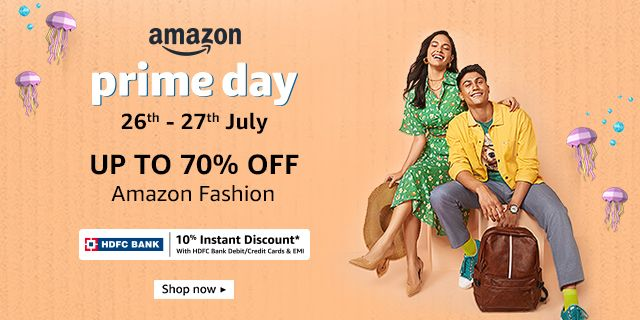 Up to 70% off Amazon Fashion | Top Brands | Men