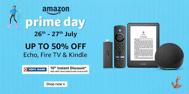 Up to 50% off on Echo, Fire TV & Kindle + 10% HDFC off