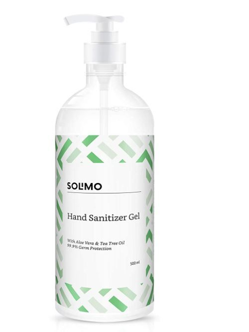 Amazon Brand - Solimo Hand Sanitizer 500 Ml at Just Rs.73