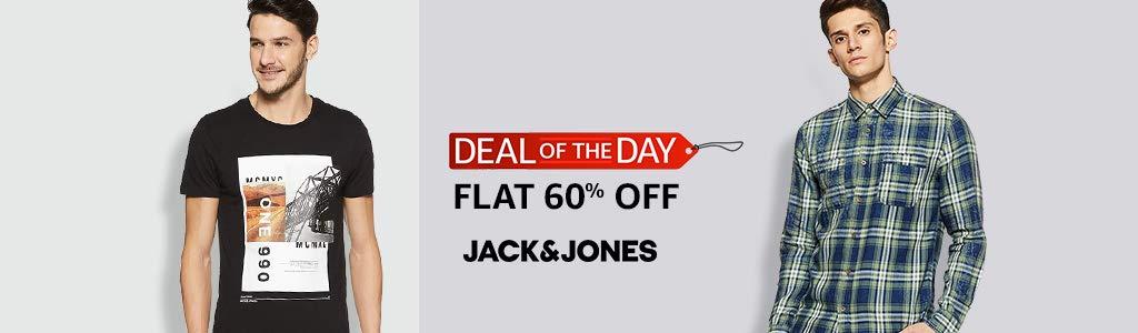 Jack & Jones   flat 60% off