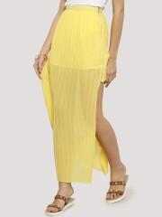 KOOVS High Low Zipped Pleat Skirt