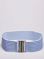KOOVS Stripe Wide Waist Belt