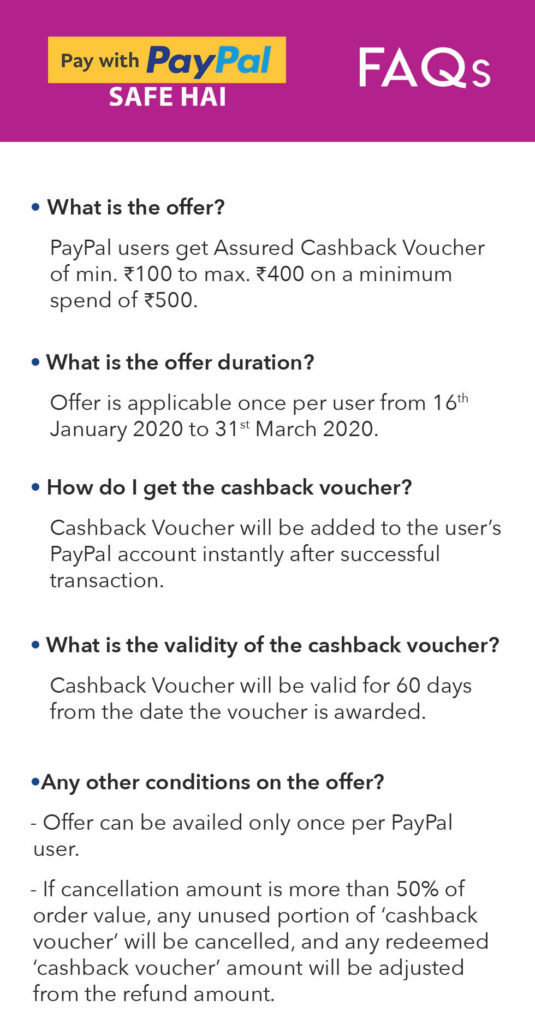 Myntra PayPal Offer