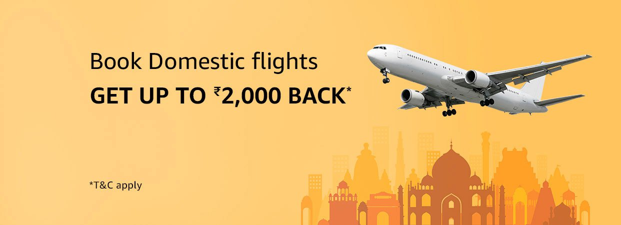 Flights May Offer - Get up to Rs. 1,600 as cashback