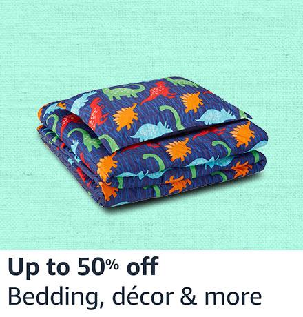 Bedding, decor & more