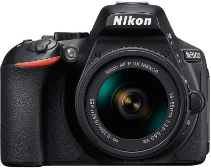 Nikon D5600 DSLR Camera Body with Single Lens: AF-P DX Nikkor 18-55 MM F/3.5-5.6G VR (16 GB SD Card)