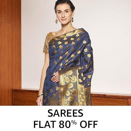 Sarees Flat 70% Off