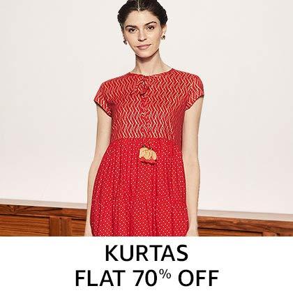 Kurtas Flat 70% Off