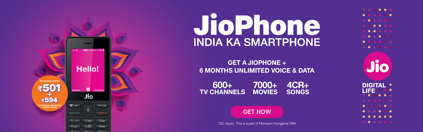 best 4g volte feature phone JioPhone