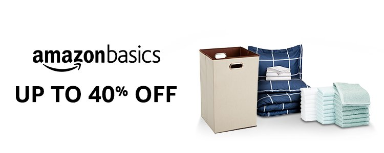 Up to 40% off: AmazonBasics
