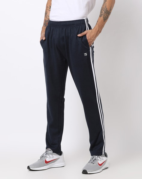 Teamspirit Blue Straight Track Pants with Contrast Taping