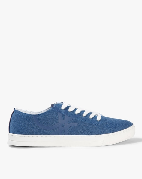 UNITED COLORS OF BENETTON Blue Lace-Ups Printed Lace-Up Casual Shoes