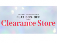 Clearance Store : Flat 60% Off On Latest Collection + Extra Rs.160 Cashback