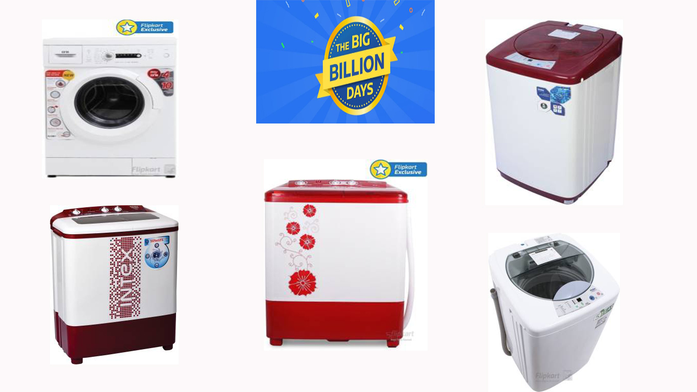 The Big Billion Days: Upto 75% Off on Washing Machine + Extra 10% Off on Axis Bank Cards & ICICI Credit Cards (29th Sept-4th Oct)