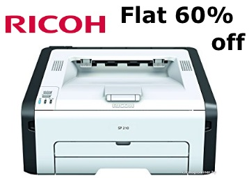 Flat 60% off:- Ricoh SP 210 Monochrome Laser Printer at Just Rs