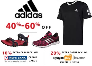 584adcd0b4e94 Now Or Never Offer - ADIDAS All Fashion Range at FLAT 40% - 60% OFF ...